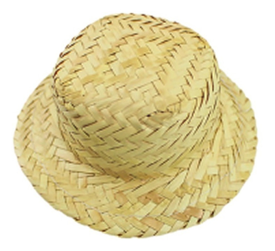 50 Chapéu De Palha Boneca Para Enfeite Ref 0019