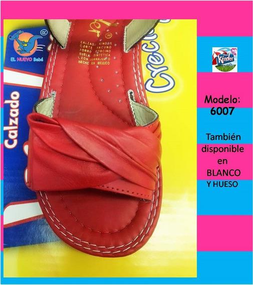 Huaraches Marca Kinder Para Niña 6007 Rojo 21.5 Al 23