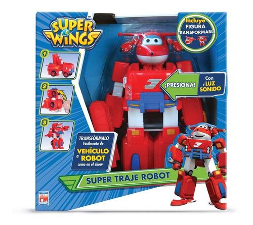 Imagen 1 de 5 de Set Súper Wings Traje Robot Fotorama