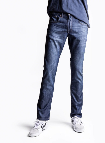 Pantalon Etiqueta Negra N9 Recto Lavado Berlin Azul Claro
