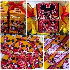 Kit De 80 Personalizados Festa Infantil - Mickey E Minnie
