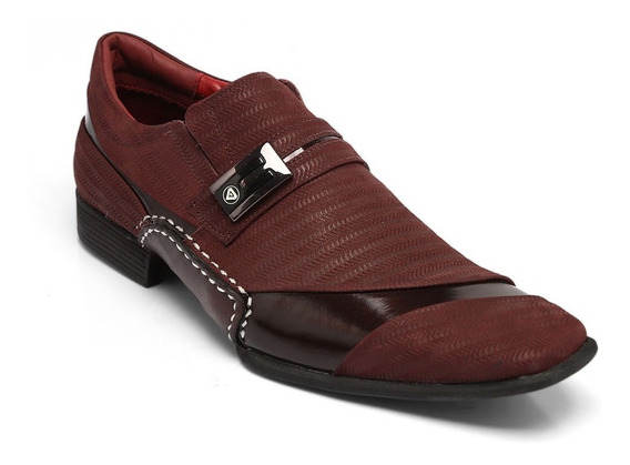 Sapato Calvest Nobuck Treccia/bordô 3260c544