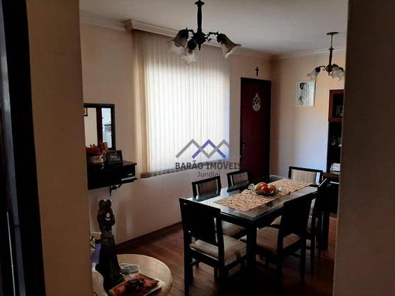 Apartamento Com 3 Dormitórios À Venda, 65 M² Por R$ 355.000,00 - Jardim Pitangueiras I - Jundiaí/sp - Ap1580