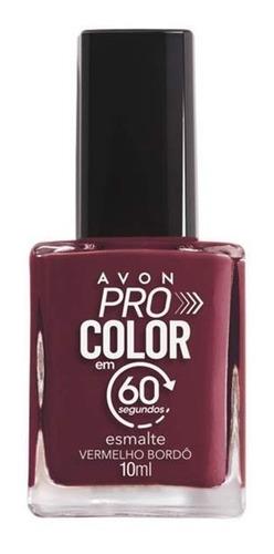 Imagem 1 de 1 de Avon - Pro Color 60 Segundos - Esmalte - Vermelho Bordô