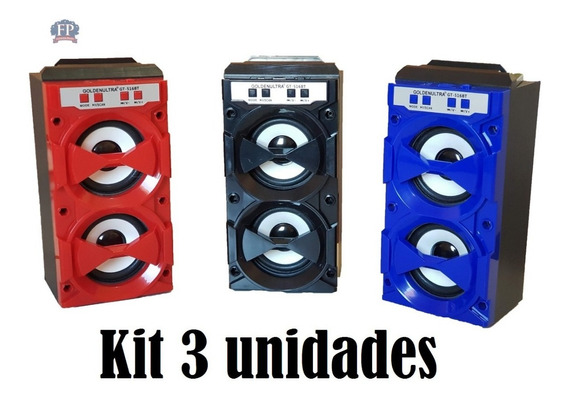 Kit 3 Caixa Som Torre Amplificada Bluetooth 500w - Usb Fm