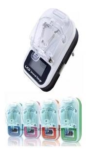 Carregador Universal P/ Celular E Cameras Lcd Digital Usb