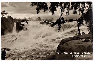 Cartao Postal Fotografico Cachoeira De Paulo Afonso Anos 50
