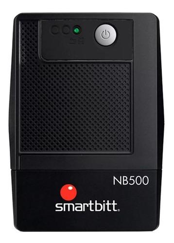Imagen 1 de 3 de UPS regulador de voltaje Smartbitt Smart Interactive SBNB500 500VA entrada y salida de 120V CA negro