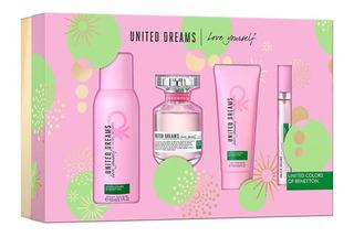 Set United Dreams Love Yourself Dama 4 Pzas De Benetton