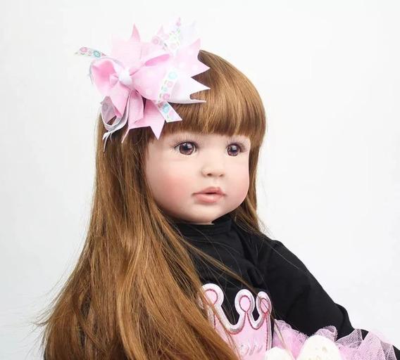 Bebê Reborn 60cm Linda Menina Realista Alive 3/4 Silicone