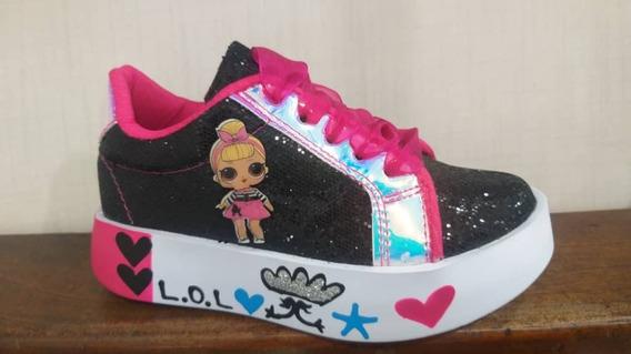 Zapatos Botas Deportivas Niñas Lol Negras Colombianas