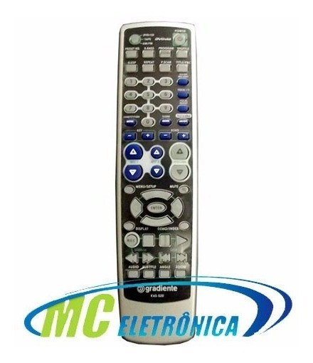 Controle Remoto Dvd Karaokê Dvdokê Gradiente Kas520 Original