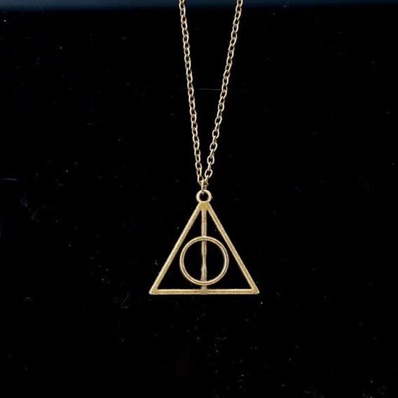 Colar Relíquia Da Morte Harry Potter