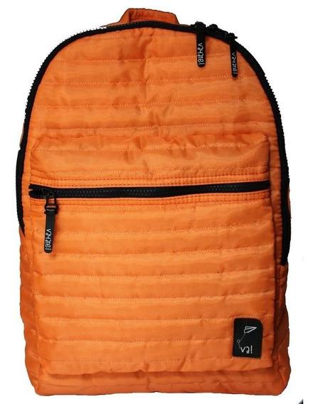 Mochila Colores Porta Notebook Impermeable Naranja