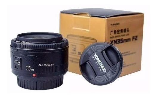 Lente Yongnuo 35mm P/ Canon Yn35mm F2 Pronta Entrega