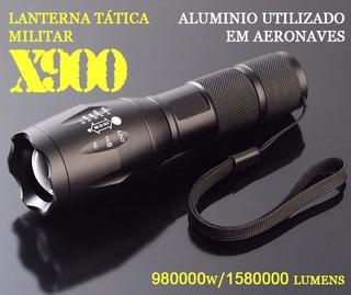 Lanterna Tática Militar X900 - 1580000 Lumens Recarregável