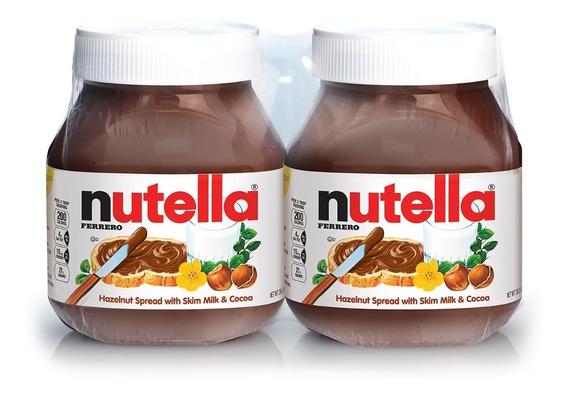 Nutella Crema De Avellanas (2 Unidades) 750gr C/u.