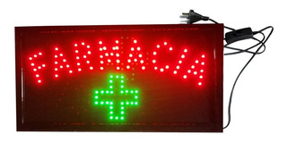 Cartel Luminoso Led Farmacia 48 X 25 Cm Oferta Especial