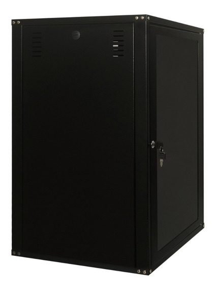 Rack Servidor Fechado De Parede Preto 12u 19p 670mm S/ Sold