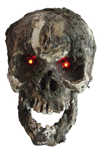 Imagen 1 de 1 de Decorativo De Plástico Cráneo Diabólico Halloween