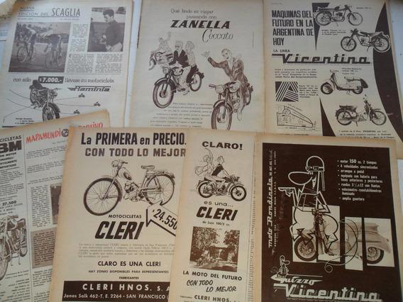 Lote 9 Publicidades Motoneta Vicentina Zanella Fbm Bessone