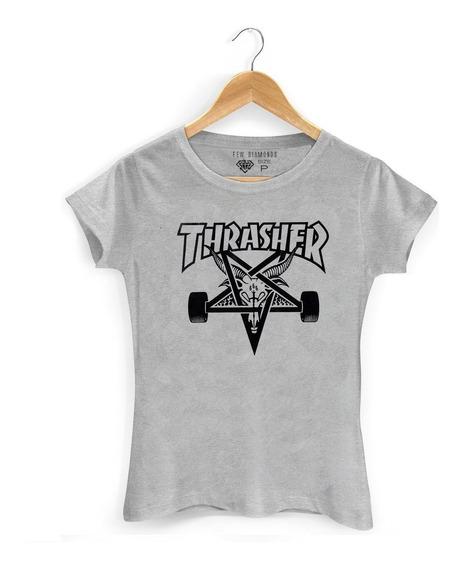 Camiseta Camisa Thrasher Logo Skate Board Goat Magazine