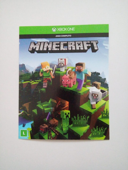 Minecraft Xbox One - Jogo Completo - Código 25 Dígitos