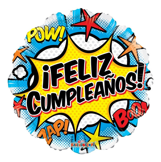 4 Comic Feliz Cumpleaños Globo Met 18 Mix Fiesta Superheroes