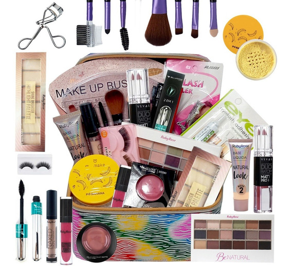 Kit Maquiagem Completo Profissional Ruby Rose Luisance Top