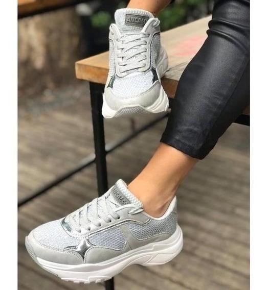 Zapatillas Mujer Anca & Co. Art. Brisa Plata Moda 2019