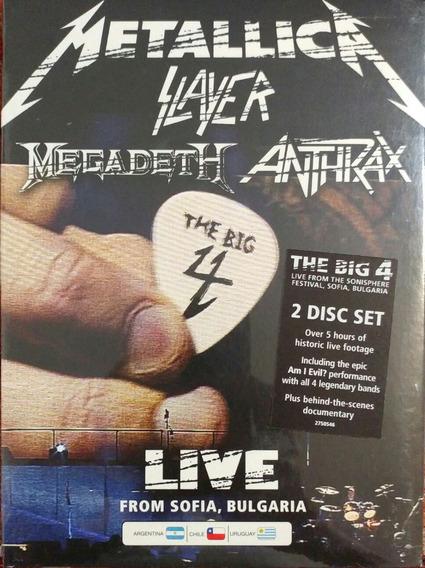 Metallica The Big 4 Nuevo 2 Dvd Digipack Megadeth Slayer