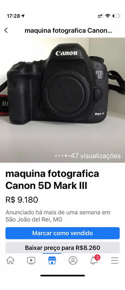 Câmera Cânon 5d Mark Iii