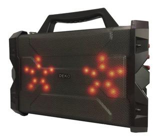 Caixa De Som Red Portatil Bluetooth Amplificada E Microfone