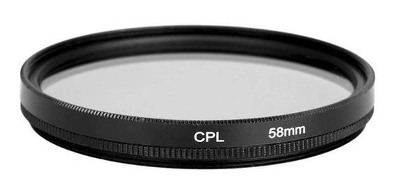 Filtro Cpl Polarizador Lente Dslr - Nikon Canon Sony - 58mm