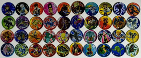 Elma Chips Coleção Completa Com 40 Metal Tazos Yu Gi Oh
