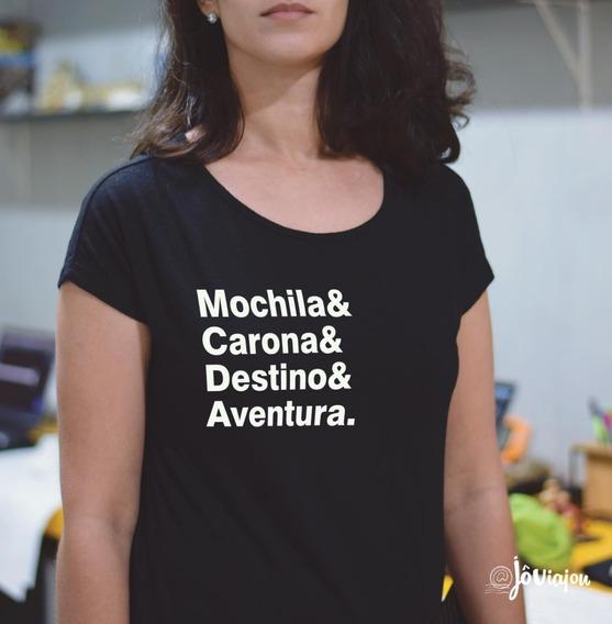 Camiseta Mochila&carona&destino&aventura