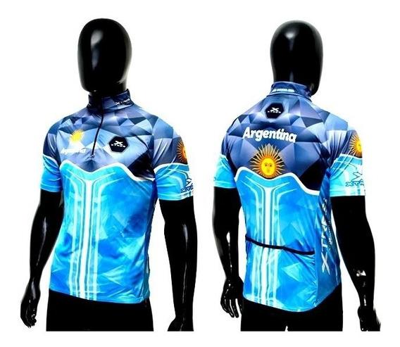 Remera De Ciclismo X-tres M/c Argentina