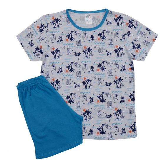 6 Pijama Infantil Verão Menino Menina 1 A 14 Atacado