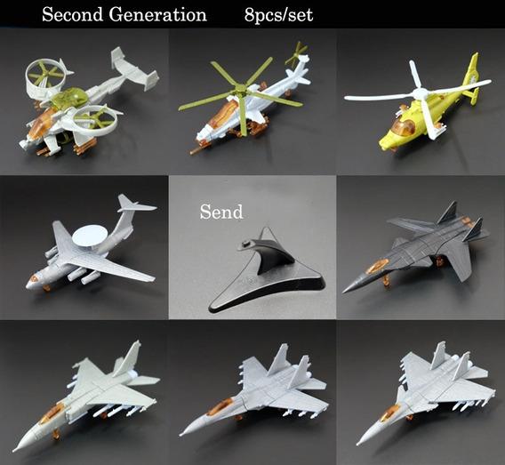 Kit 8 Pçs/set Aviões/helicópetros 4d Models 1:165