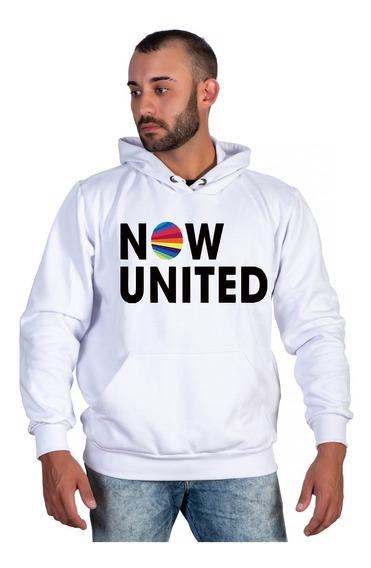 Moletom Now United Canguru Com Capuz Juvenil Moda Inverno