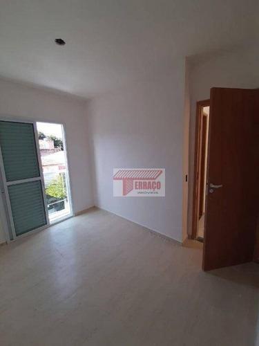 Imagem 1 de 13 de Cobertura Com 2 Dormitórios À Venda, 46 M² Por R$ 398.000,00 - Vila Apiaí - Santo André/sp - Co0733