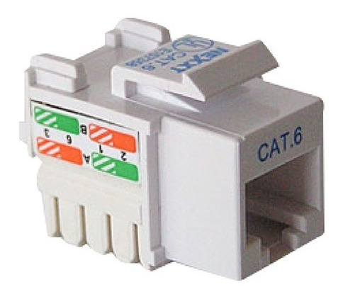 Jack Coupler Cat6 Rj45 Blanco