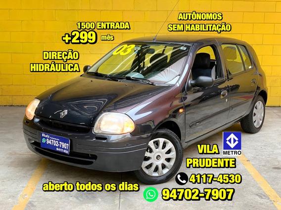 Renault Clio Direção Hidráulica 4 Porta 1500entrada+299 Mês