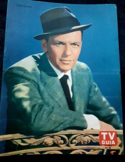 Frank Sinatra. Lámina Poster Central Revista Tv Guía .