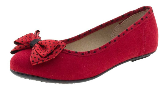 Sapatilha Infantil Feminina Vermelha Molekinha - 2099210