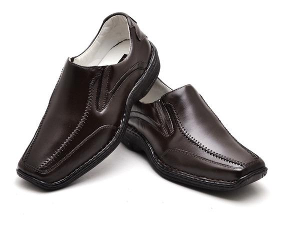 Sapato Conforto Masculino Em Couro Ranster Preto 2017