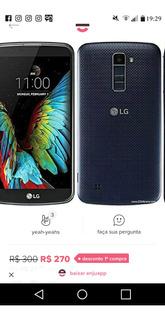 Celular LG K 10 Preto 16gb Tudo Ok Sem Trinca Sem Riscos