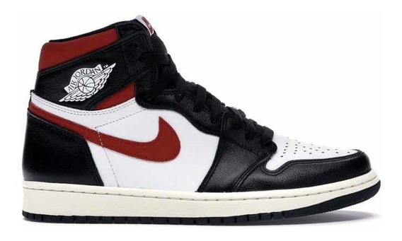 Sneakers Originales Jordan 1 Retro High Black Gym Red Origin