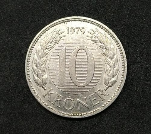 Dinamarca - Moneda De 10 Kroner - Año 1979