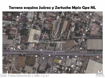Terreno En Renta Comercial En Guadalupe N.l. $56,000